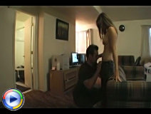Amateur couple fucking in living room
