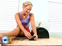Stunning spinner takes her first sybian ride at nubiles