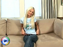 Platinum blonde nubile franziska pleasures herself with the rabbit toy
