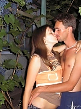 Young couple can't get enough of fucking and starts doing the thing right outdoors