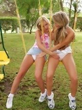 Hot blondes fuck with double header