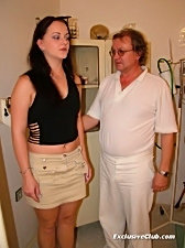 Rhoda gets her pussy examined by old perverted doctor
