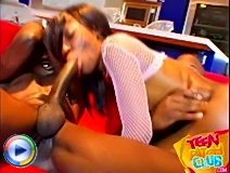 Teen bitch got mouth full of cory everson\'s big tits