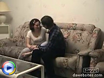 Gorgeous young brunette rides a hard cock of an old man in bed