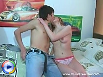 Two lovely teens gets slammed in the ass crack