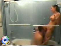 Naughty lovers enjoy rough fucking in the shower