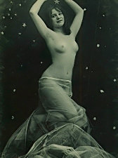 Experimental vintage nude photography of 50's
