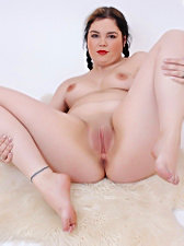 Fat white fat plumper sucking black cock passionat