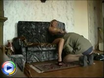 Gorgeous young blond bitch gets a real hardcore treatment form an older guy