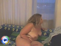 Overweight teen puss tears her little panties off