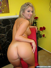 Hot nubile mollymadison flaunts her pussy and tight ass hole on the kitchen counter