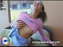 Lovely brunette teen turned into perfect slut