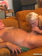 This old fogy loves it doggie-style but first he's eager to get his erected member sucked