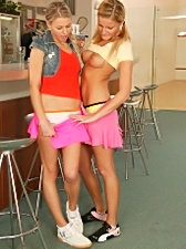Two amazing young blondes let their desires loose and enjoy fucking each other senseless