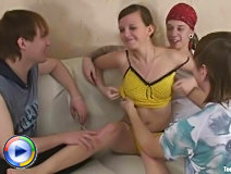 What a nasty little teen slut fucking three guys