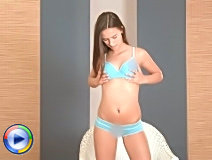 Enticing nubile victoriasweet teases her clit with her fingers