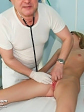 Teen kate visits her gyno doctor to have her tight pussy checked up with a speculum