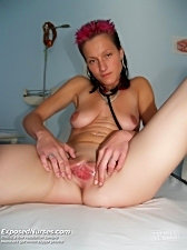 Nurse demi masturbating with dildo and speculum on gynochair