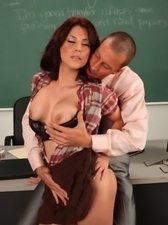 Bigtits hentai teacher gets asslicked and assfucked