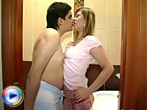 Awesome amateur teen girls gets fucked in bathroom