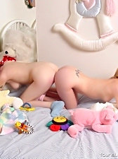 These playful young angels sure love fooling around in bed before eating each other like candy