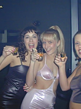Angie and friends get drunk and naked at a members party