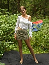 This picnic is one hot ride with the teen babe showing her beautiful young body
