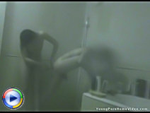 Beautiful teenie likes sex everywhere and especially being screwed doggy style after work in a steamy shower