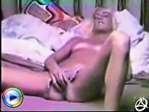 Sultry blonde chick lets guy shoot her ass in doggy